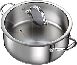Cooks Standard Classic Stainless Steel Dutch Oven Casserole Stockpot with Lid, 7-Quart