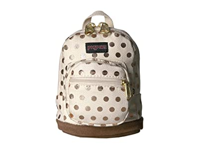 JanSport Right Pouch (Gold Polka Dot) Backpack Bags