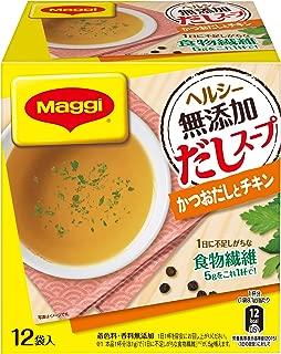 マギー ヘルシー無添加だしスープ かつおだしとチキン 12袋入