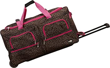 Rockland Luggage 30 Inch Rolling Duffle, Pink Leopard, One Size