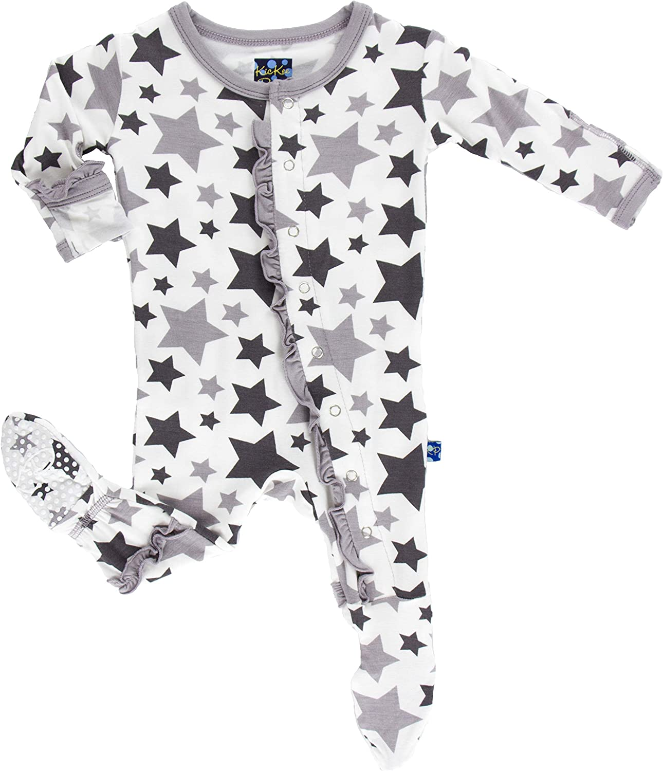 KicKee Pants Print Classic Footie Max 68% OFF Cheap Ruffle with Snaps