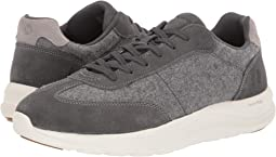Dark Grey Wool/Suede