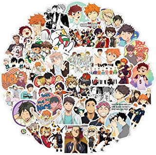 Anime Volleyball Stickers 100pcs Waterproof Vinyl Stickers for Kids Teens Adults for Water Bottles Laptop Phone