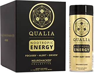 Qualia Nootropic Energy Shot by Neurohacker Collective   Clean Focus for Peak Mental Performance   Niagen Enhancer with Gi...