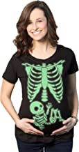 Crazy Dog T-Shirts Maternity Skeleton Baby T Shirt Funny Cute Pregnancy Halloween Tee Announcement