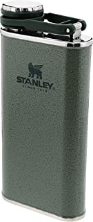 Stanley Classic Wide Mouth Flask 0.23L / 8OZ Hammertone Green, BPA-vrije heupfles, Roestvrijstalen zakflacon, Makkelijk te...