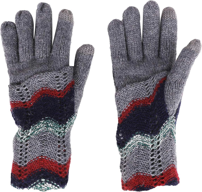 Wool Knit Full Finger Arm Sleeve Warmers Long Winter Warm Gloves for Women Girls