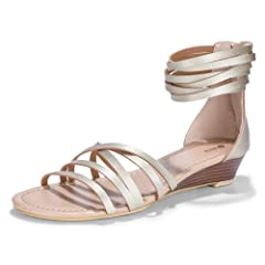 c55617c6cab IDIFU Women s Belle Strappy Wedge Gladiators Open Toe Ankle H ..