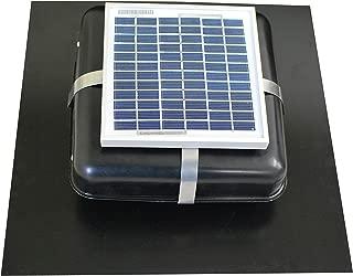 Solar Roof Vent - Solar Attic Fan - Solar RoofBlaster with Black Vent