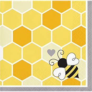 20-Count Boston International L769890 Celebrate the Home Spring 3-Ply Paper Luncheon Napkins Save The Bees