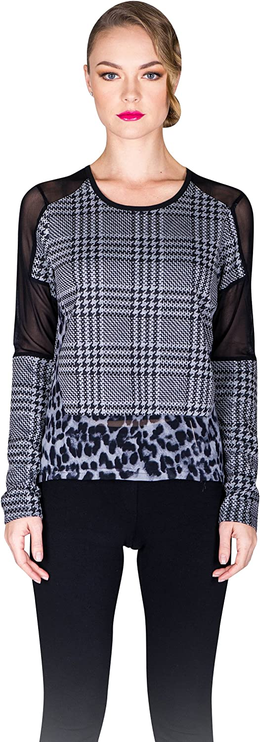VIRGIN ONLY Womens Blouse with toot hound and animal print