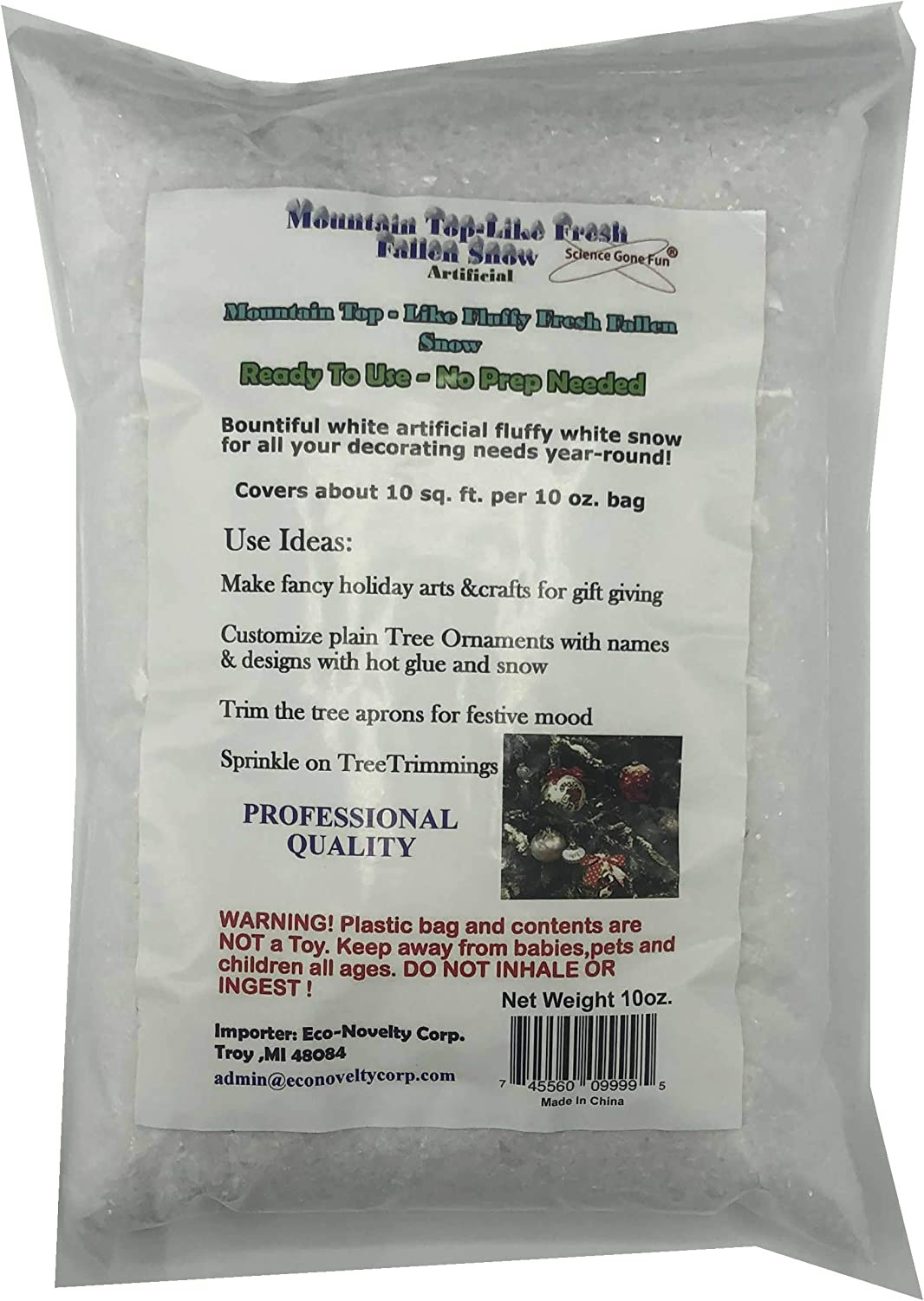 Artificial Snow Same day shipping Scatter Flakes –Ready Use-No to New York Mall Needed Prep