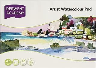 DERWENT(R) R310450 Academy Watercolour PAD, Landscape A3 12 Sheets PDQ