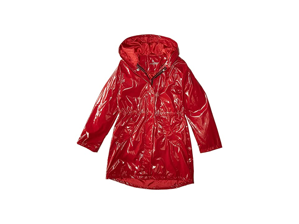 Urban Republic Kids Raincoat Patent Faux Leather Anorak Jacket (Little Kids/Big Kids) (Red) Girl