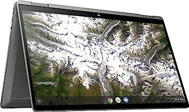 2020 Newest HP x360 2-in-1 14-inch FHD Touchscreen Chromebook – 10th Gen. Intel Core i3-10110U, 8GB RAM, 64GB eMMC, B&O Audio, WiFi 6, Backlit Keyboard, Fingerprint Reader - Mineral Silver