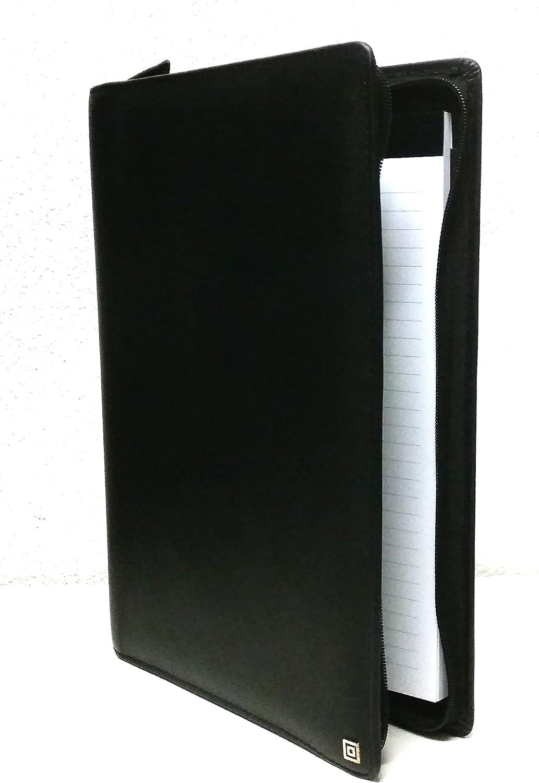 Time system ACC Klassik A4 A4 A4 Schwarz ZIP Konferenzmappe Schreibmappe Leder 62212 B007PMXR8I | Gute Qualität  f1881f