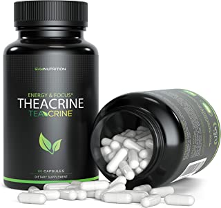 Theacrine 100mg as Teacrine™ - 60 Count (V-Capsules); A Superior Replacement to Caffeine That is Taken for Better Focus, Energy, Mood & Motivation   Non-GMO & Gluten Free