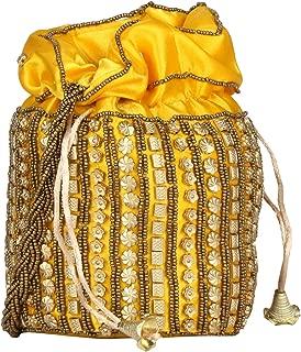 Traditional Satin Indian Jaipuriya Style Potli Bag for Women & Girls