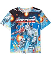 Moschino Kids - Transformers Digital Print Short Sleeve T-Shirt (Big Kids)