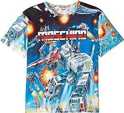 Moschino Kids - Transformers Digital Print Short Sleeve T-Shirt (Big Kids)