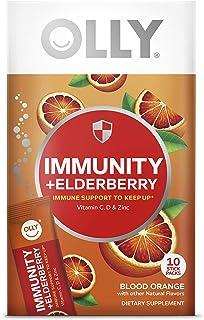 Olly Immunity Powder, Daytime Immune Support, Fizzy Drink Mix, Blood Orange - 10 Count