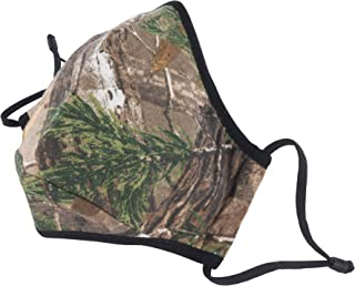 Camo 3-ply Fabric Face Mask with Adjustable Straps