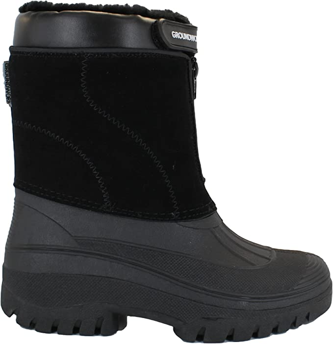 GroundWork LS005 Womens Mukker Stable Yard Winter Snow Lace Up Boots