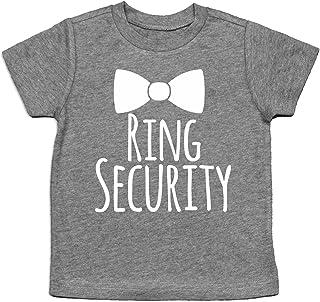 Ring Security Shirt Ring Bearer Shirt Ring Bearer Gift (3T, Heather Gray)