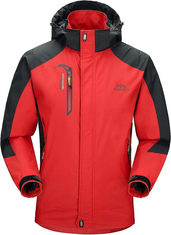MAGCOMSEN Max 52% OFF Colorado Springs Mall Men's Hooded Waterproof Rain Lightweight Jacket
