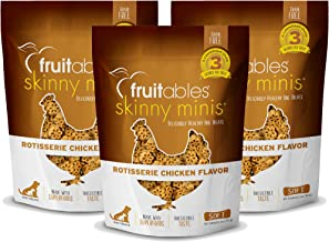 product image for Fruitables Skinny Minis Grain Free Soft Dog Treats Rotisserie Chicken Flavor (3 Pack) 5 oz Each