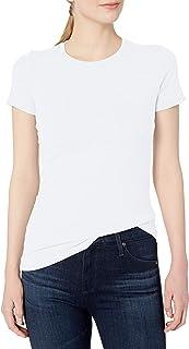 Clementine Apparel Women's Ladies Favorite Fashionable Crew Neck T-Shirt, White, Small