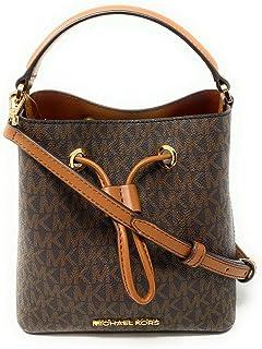 حقيبة كتف سيري صغيرة بتصميم دلو من مايكل كورس (بلاستيك بي في سي، بني)