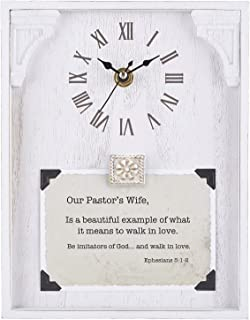 CB Gift Heartfelt Collection Framed Table Clock with Sentiment, 7
