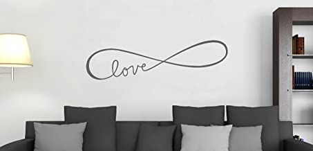 """Wall Decor Plus More WDPM3513 Infinity Love Elegant Modern Wall Decal Art, 36 by 10"""", Storm Gray"""