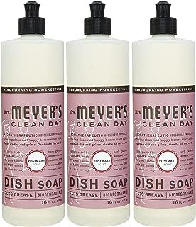 Mrs. Meyer's Clean Day Liquid Dish Soap, Rosemary, 16 Ounce Bottles, 3pk