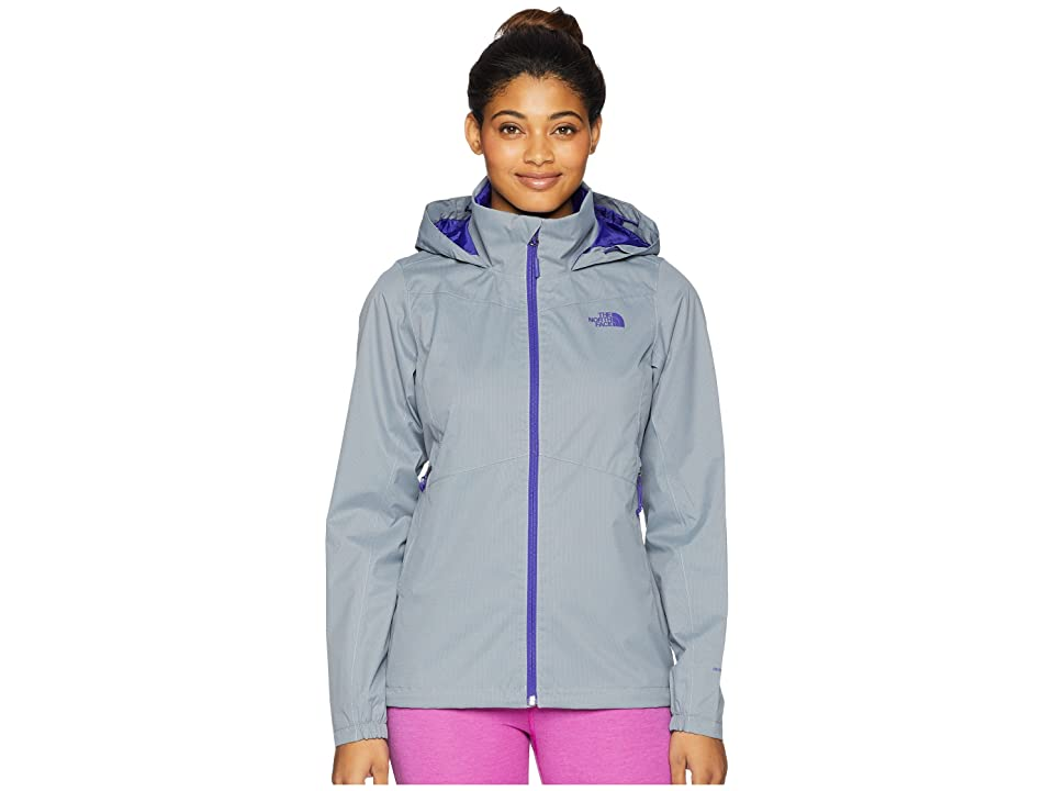 The North Face Resolve Plus Jacket (Mid Grey Dobby/Deep Blue) Women