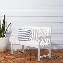 Vifah V1631 Bradley Outdoor Furniture, White-Painted