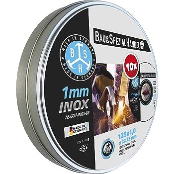125 x 1 Mole per troncare in acciaio INOX 10 pezzi Metabo in scatola di latta