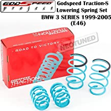 Godspeed (LS-TS-BW-0006) Traction-S Lowering Spring Set For BMW 3-Series E46 RWD (DOES NOT FIT XI MODELS) gsp set kit