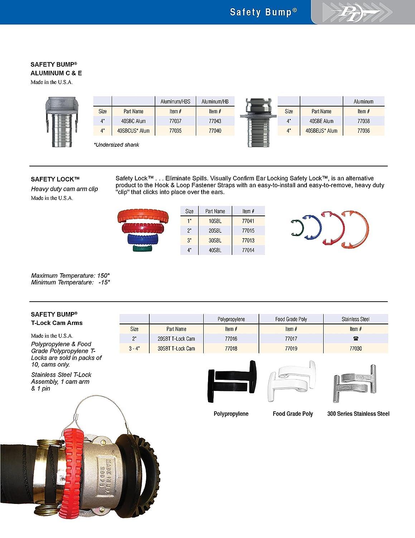PT Coupling 77005Anti-Static 30SBM Polypropylene Safety Bump Black Plug 3
