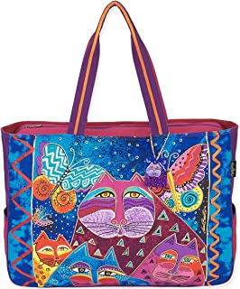 Laurel Burch Cats with Butterflies Oversized Tote