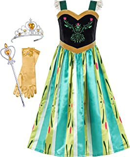 Sunny Fashion Princess Dress Costume Accessories Crown Magic Wand Size 5-12