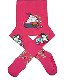 Weri Spezials, Leotardos para bebés y niños con revestimiento ABS para niñas en varios diseños divertidos.