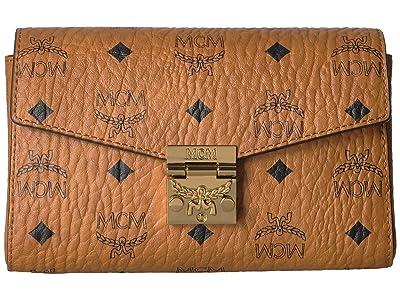 MCM Patricia Visetos Belt Bag Small (Cognac) Handbags