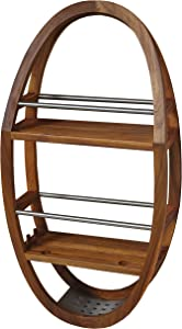 AquaTeak The Original Moa Teak & Stainless Shower Organizer