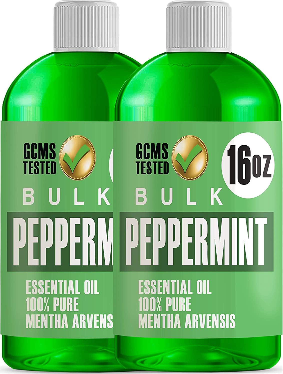 32oz Bulk Peppermint Essential Oil (Giant 16 Ounce Bottle- Therapeutic Grade Peppermint Oil) Perfect for Aromatherapy Diffuser, Help Repel Mice & Rats, Candle & Soap Making, Lotions, Body Wash