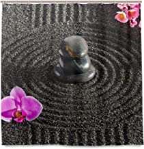 Blue Viper Japan Zen Garden in Sand with Stone Home Decorations Shower Curtain 72 x 72 inch Waterproof Polyester for Bathroom Shower Curtain Set with Hooks