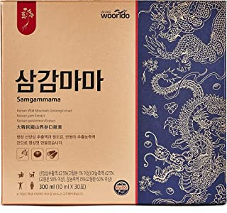 WOORIDO Samgammama Extract Stick 1box (10ml X 30 Sticks), Korean Wild Simulated Ginseng, Portable Liquid Stick Type for An...