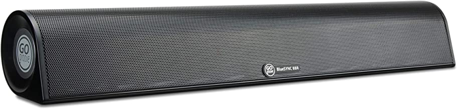 GOgroove Portable Bluetooth Mini Soundbar - BlueSYNC BBR 18-inch Travel Wireless Sound Bar with Rechargeable Battery, Dual 50mm Drivers, Wireless Streaming, and Wired AUX for Phones & Tablets