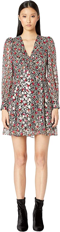 Dashing Beauty Floral Park Clip Dot Dress